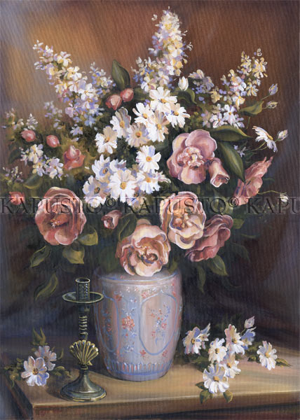 Pavel Kapusto : Mixed Bouquet oil on canvas , 28x20 ins.