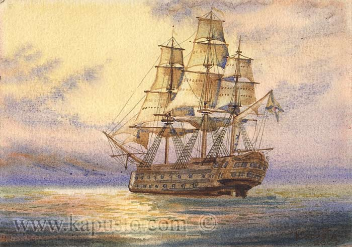 Pavel Kapusto : Azov watercolor ,8x6ins.